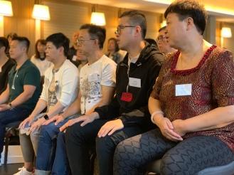 Students learning Sitting Qigong