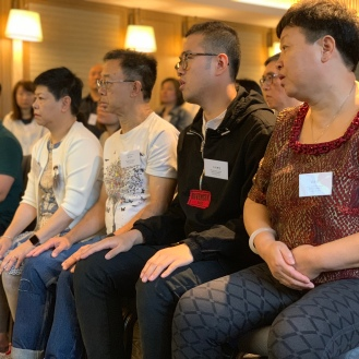 Students learning Sitting Qigong